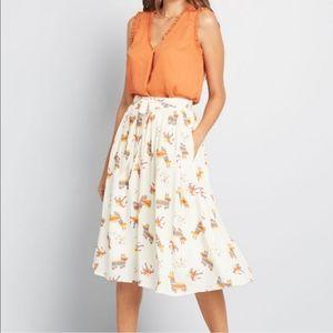 Modcloth Alpaca Piñata Midi Skirt size Medium